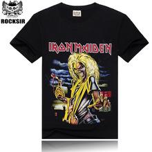Tshirt Fashion 2016 Iron Maiden 3D Print T shirt Brand Clothing anime Novelty Iron Man Hip Hop Men's T-shirts Mens Cotton Casual