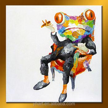 Großhandel Handgemachte Kröte Kunst Tier Bild Frosch Moderne