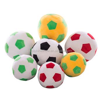 Plush Soccer Ball Round Shape Pillow Low Moq Custom Throw Pillows