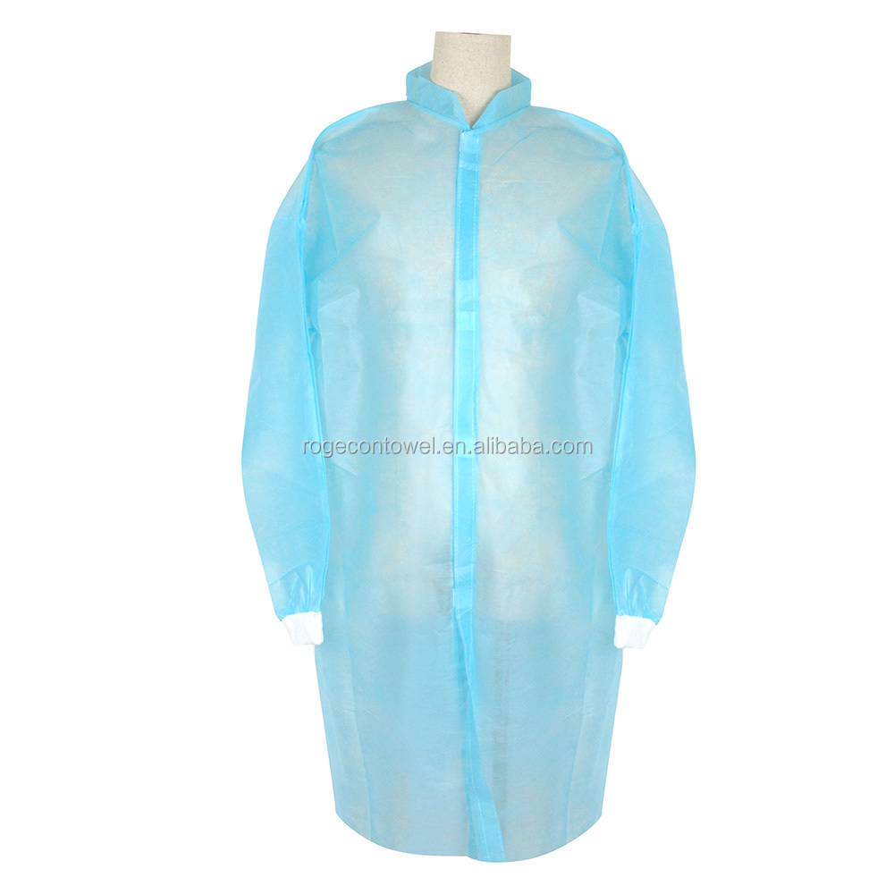Disposable blue medical nonwovens OEM Disposable Medical surgical gown nice Disposable medical clothing factory