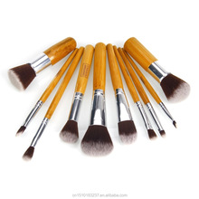 Magnetic wood makeup brush 10pcs/set, make up brush set professional