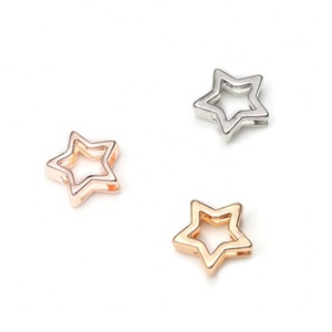 Rose Gold Slide Rectangle Charms For Jewelry Making Baby Star Charms