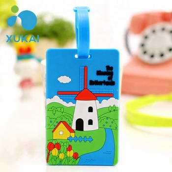 high quality minimalist custom silicone cute travel luggage tag