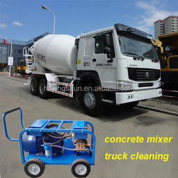 500bar high pressure water jet hydroblasting concrete for Cement cleaning solution