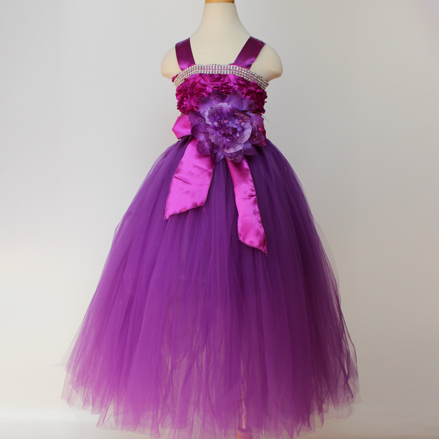 44b6c0604e kids clothing year 2 3 4 5 6 7 8 9 10 11 12 old children dress for party  and wedding girls red blue purple birthday dress pink
