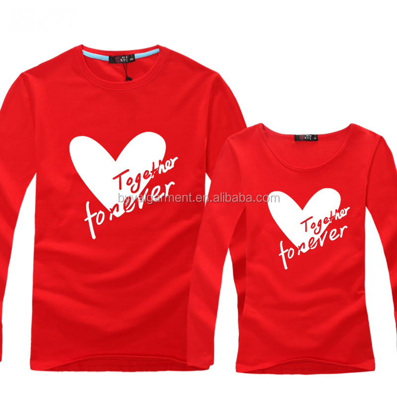 542405541 Hot Sale Couple T-Shirts Design for Lovers Fashion Unique Couple T Shirts  Heart-