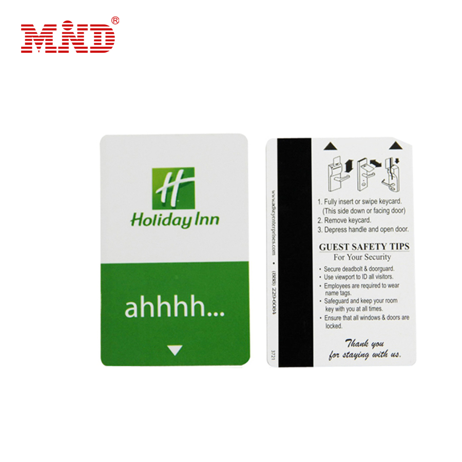 Hot sale pvc printing hotel key card with magnetic stripe