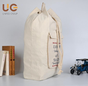 Top quality reusable canvas Laundry bag