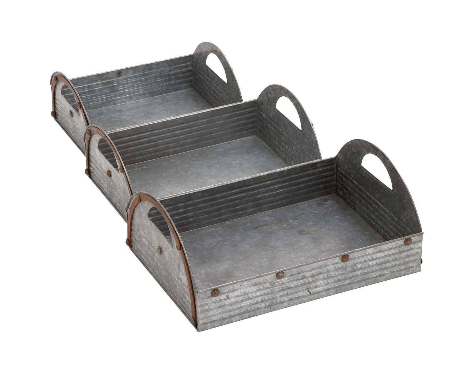 Plutus Brands Customary Styled Attractive Metal Tray