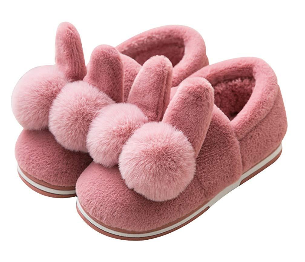 Cattior Fleece Cute Boys Girls Bunny Slippers Warm Slipper House Shoes