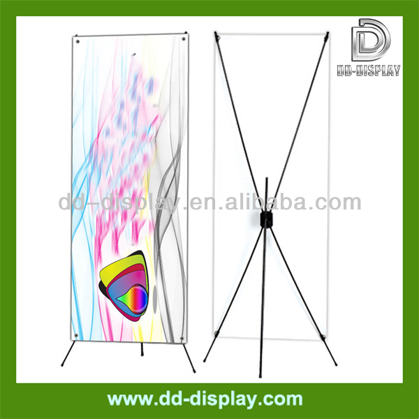 Plastic X Banner Stand, Glass Fiber X Banner Stand