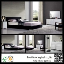 Wholesale Price Modern Bedroom Sets, White MDF Dresser With Mirror