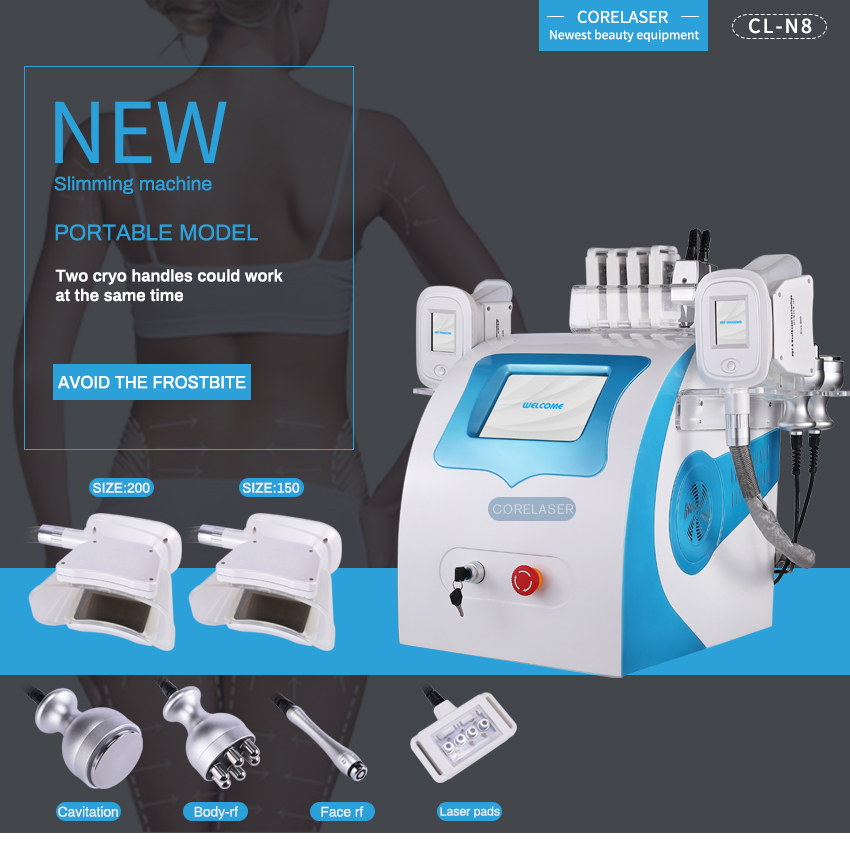 New portable cryo slimming fat freezing liposuction Cryolipolysis machine for home use