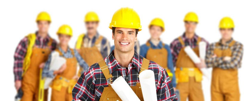 construction workers view skilled construction workers