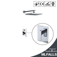 Rainfall shower head bathroom chrome finished one handle bath faucet in wall tap water filter