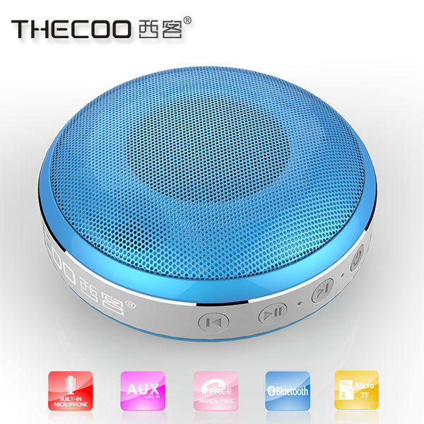 Portable digital Li-ion bluetooth speaker, support reading music from TF card