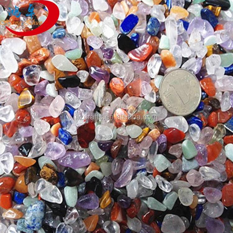 grava precio al por mayor de piedras preciosas naturales cristal mezclado colorido gravas para jardinera