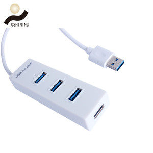 Top Selling Items USB 3.0 Hub, 4 Port USB Hub with Power Adapter Ultra Slim Super Speed Data Transfer Hub