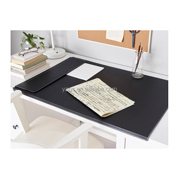 Office Desktop Pad Leather Large Table Mat With Fixation Lip Bent Front Edge