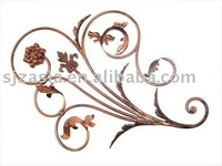 metal abstract tree branch with leaves wall art