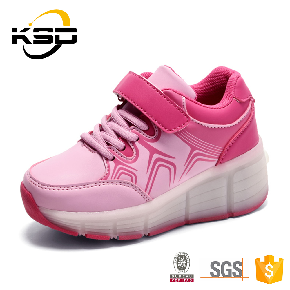 High-Quality Wheel Rubber Outsole LED Shoes With Lights For Kids Shoes