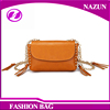 2016 New style print fancy chain yellow solid color lady shoulder mini bags for young college ladies