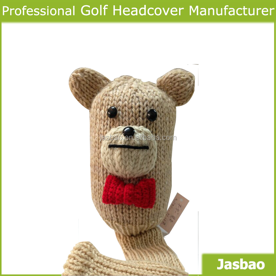 OEM Beautiful wool Knitted Golf Head Covers
