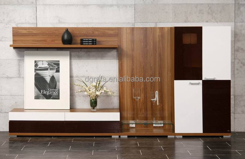 2014 Modern Tv Cabinets Wall Units Was Made From E1 Solid Chipboard