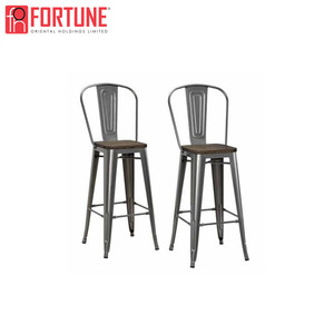 nightclub rustic industrial modern metal bar stools with backs