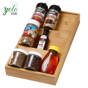Home Bamboo Drawer Tray Bamboo Spice Rack