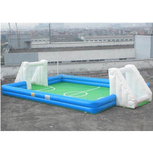 Free Shipping or Discount Inflatable Soap Football Field/ Customized Sports Arena Inflatables