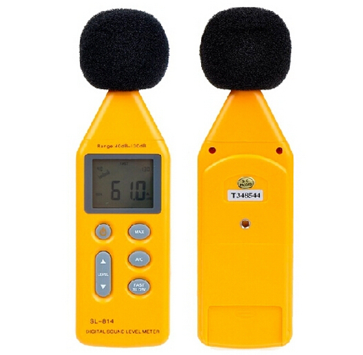 SL-814 LCD Display Digital Sound level Meter Tester Sound Noise level Gauge 30-130dB Decibel Popular Free Shipping