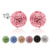 925 sterling silver crystal ball stud earrings for women