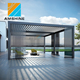 3*4m luxury Garden Patio Aluminum pergola gazebo with retractable curtains
