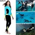 OXA High Elastic Lycra Women Wetsuits long sleeve Anti UV one piece Snorkeling Scuba Diving Suit