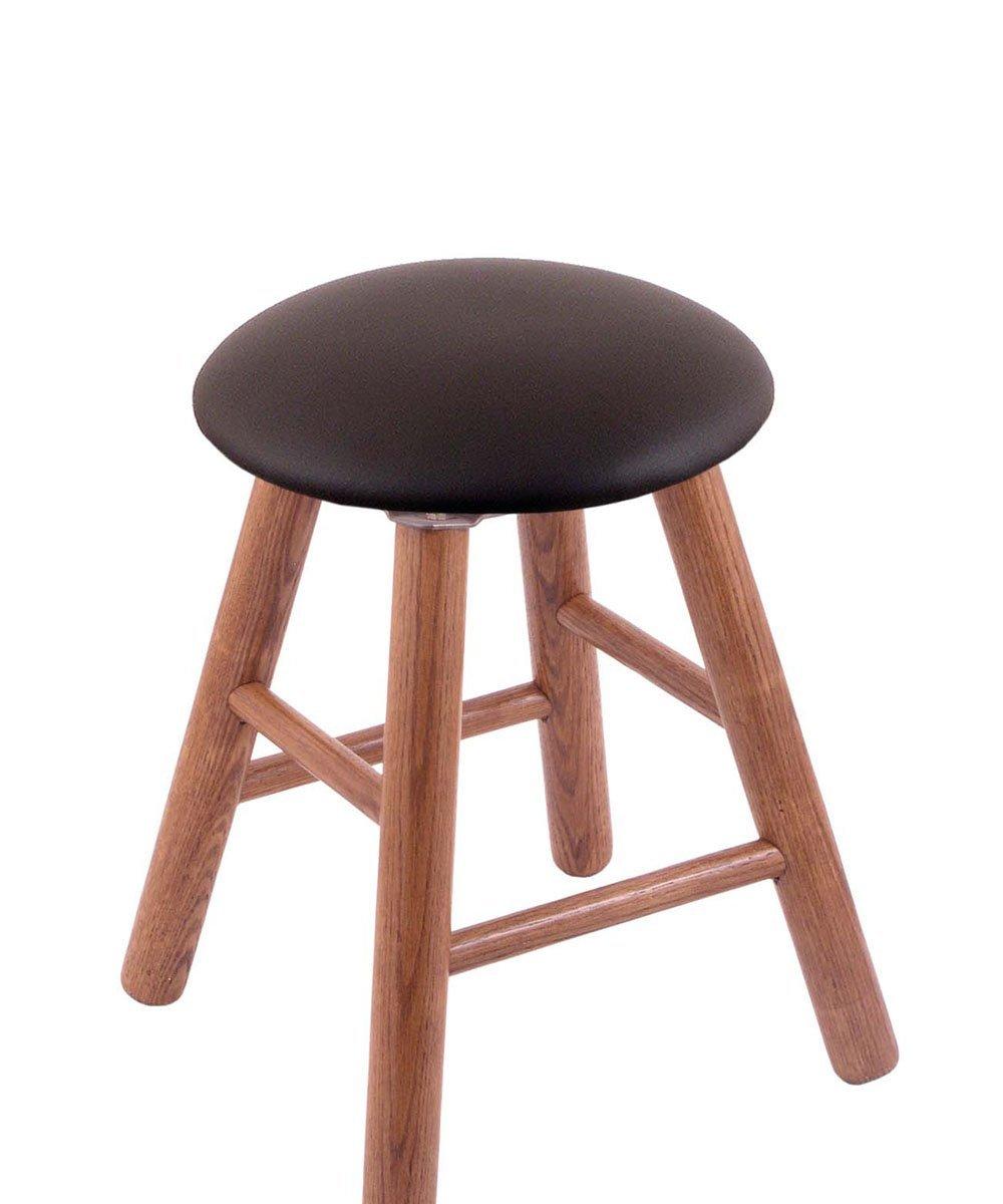 Oak Vanity Stool in Medium Finish with Allante Espresso Seat