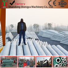 Electric concrete pole making machine manufacturer in China,concrete poles