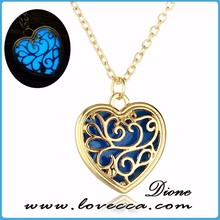 Spring Jewelry Luminous Necklace Heart Magical Fairy Glow in the Dark Pendant Necklace