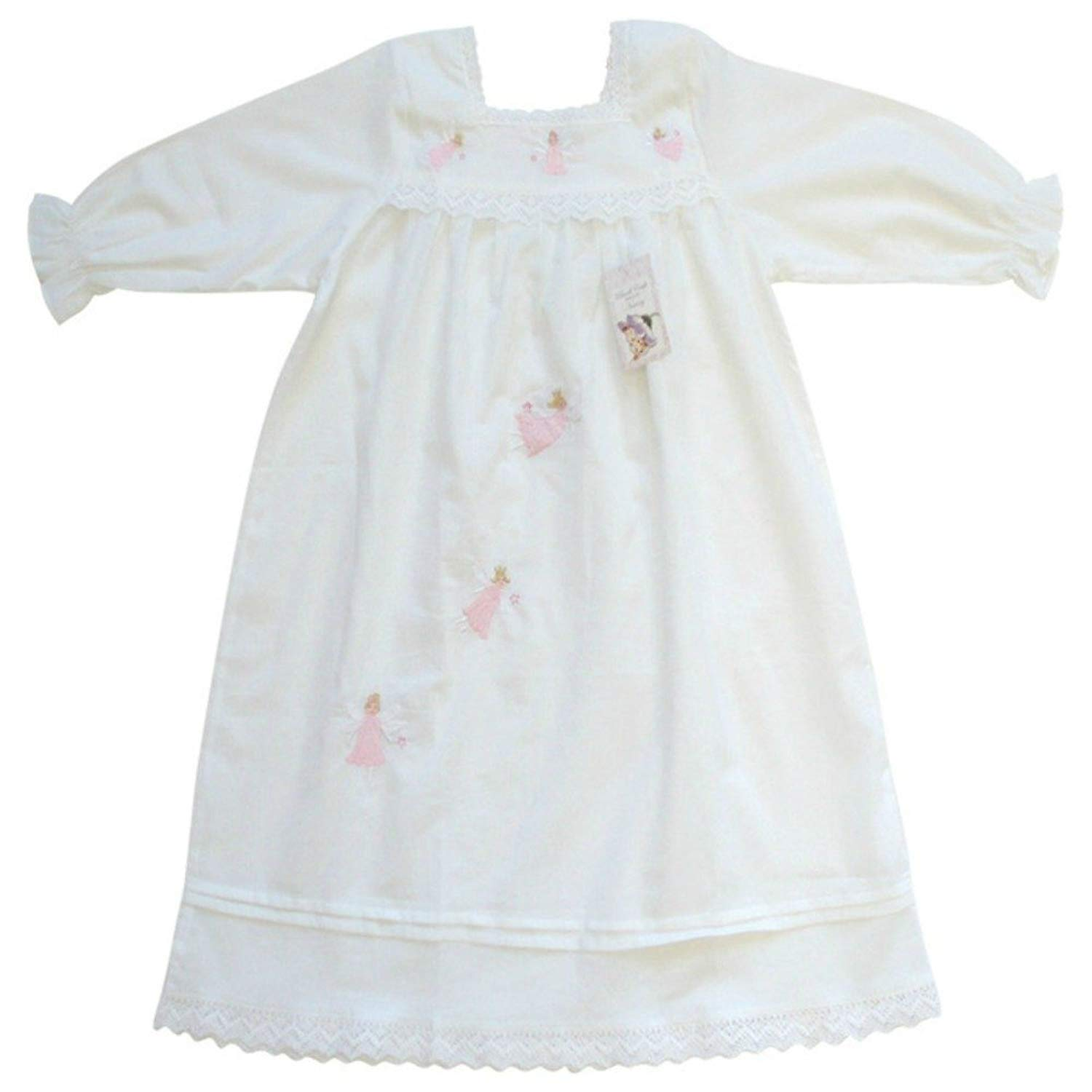 721d2ab4eb Get Quotations · Powell Craft Big Girls  Cotton Fairy Nightdress nightgown.6-7  Years.