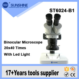Top Quality Zoom Binocular Long Working Distance Stereo Microscope With Led Lamp