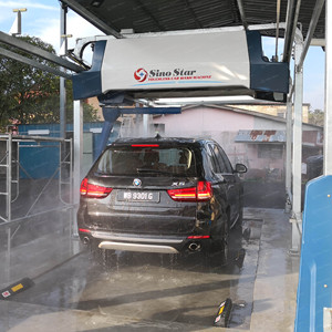 Outdoor mobile steam touch free car wash with foam/wax steam car wash touchless