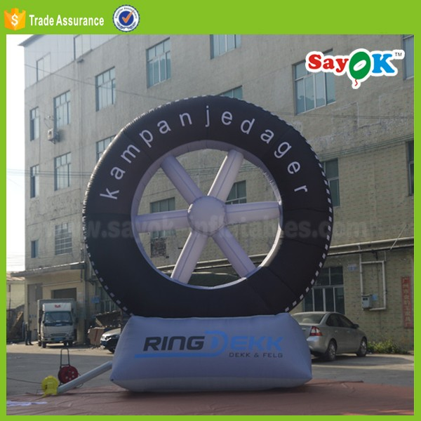 outdoor display used inflatable tire balloon advertising air tire wholesale