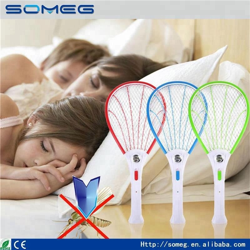 New Electronic Swatter Mosquito Racket Fly Racket Handled Fly Racket Bug Zappers Fly Mosquito Killer