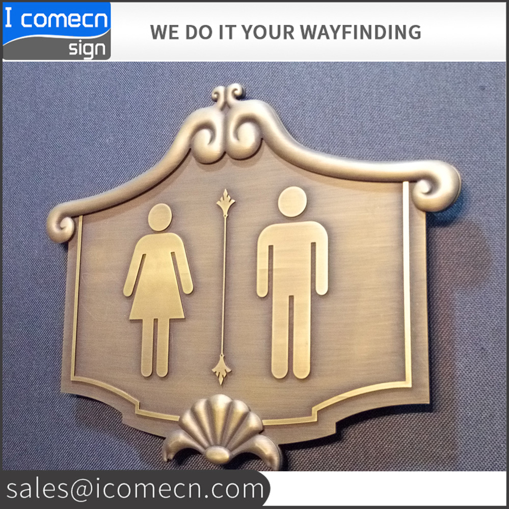 Laser Cut Good Quality Business Letter and logo Antique Bronze Advertising <strong>Signs</strong>