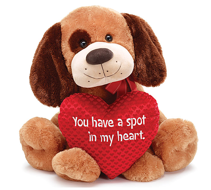 Dog Valentine Toys : Valentine day plush toys pug dog stuffed