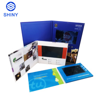 2019 Promotional 5-inch LCD screen with hard cover video brochure card for introduction,guiding,invitation,greeting use