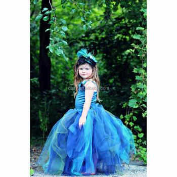 f075f466d0082 2015 new children girls' prom gown flower dress/long tutu dress for baby  girls