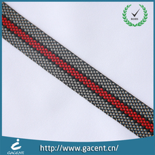 Eco friendly single face printed logo nylon striped webbing