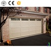 Luxury Imitation Wooden Grain Garage Door/Galvanized Steel Panel Insulated Foam Inserts Automatic