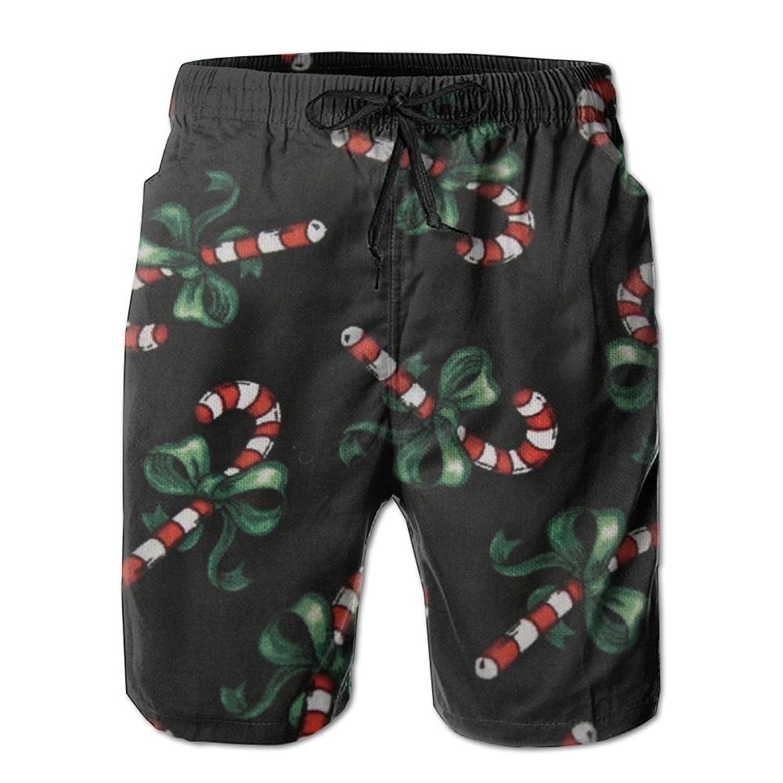 50335c53d5843 Get Quotations · Aini Ronyi Swim Trunk Beach Shorts Christmas Candy Cane Men's  Swim Trunk Beach Shorts